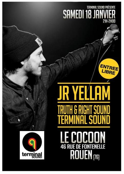 Affiche samedi 18 Janvier Le Cocoon Caen
