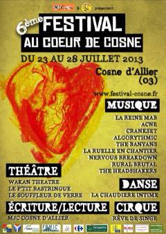 Festival Au Coeur de Cosne 27 Juillet 2013