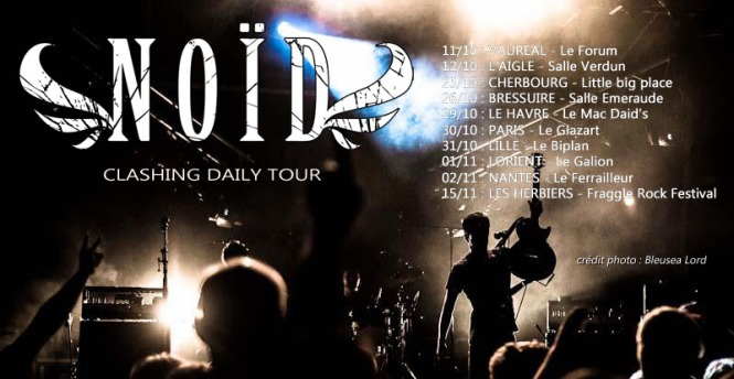 Noid affiche dates CLASHING DAILY TOUR