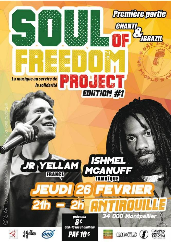 Soul of freedom project edition 1 antirouille montpellier 26.02.15